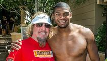 Michael Sam -- Swimming with the Stars ... Hangs with Sammy Hagar