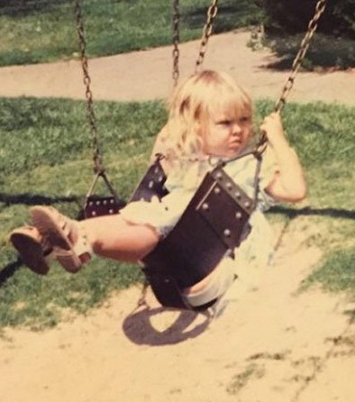 Before this blonde babe was a Hollywood knockout she was just another cute little kid mean-mugging the playground in Riverside, California.
