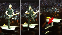 The Edge -- Too Close to the Edge During Concert ... Big Fall (VIDEO)