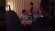 Justin Bieber & Cody Simpson -- Italian Restaurant Performance Molto Bene (VIDEO)