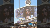 Minnie Driver -- Star Spangled Screw Up ... At Dodgers Stadium