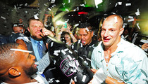 New England Pats -- Champagne Chuggin' After-party ... Brady Out, Garoppolo In