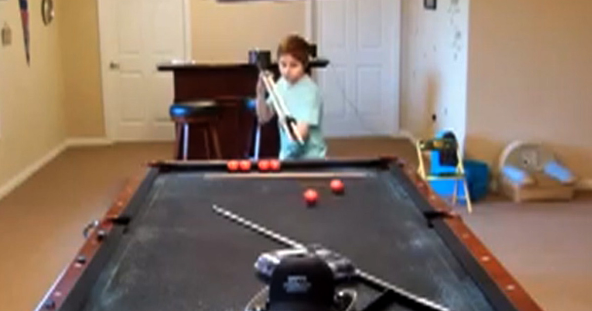 Billiards Trick Shots This Kid is KILLING IT On the Pool Table