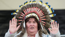 Susan Boyle Rufflin' Feathers With Native American War Bonnet -- See The Pics!