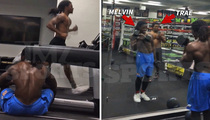 Floyd Mayweather -- Invites 2 NFL Rookies ... For Private Gym Workout