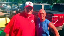 Kenny Chesney -- Suns Out, Guns Out ... At KC Chiefs Practice