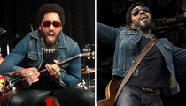 Lenny Kravitz -- Exposes Junk ... After Leather Pants Rip Open!!! (PHOTO)