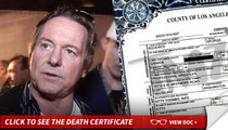 'Rowdy' Roddy Piper -- Cause of Death ... Heart Attack from Blood Clot