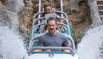 Matt Damon -- Wet and Wild at Disneyland