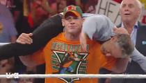 Jon Stewart -- Powerslammed By John Cena ... Payback's a Bitch!