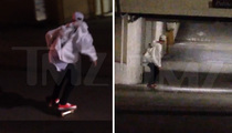 Justin Bieber -- Cruising on the Board in Beverly Hills Ghost Town (VIDEO)