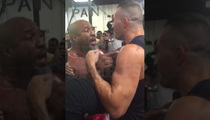 Shannon Briggs Vs. Klitschko -- Evander Holyfield Breaks Up Gym Fight