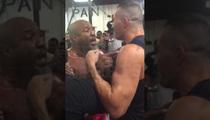 Shannon Briggs Vs. Klitschko -- Evander Holyfield Breaks Up Gym Fight