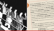 The Beatles -- Contract that Bound them together ... Up for Auction