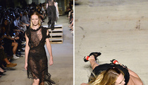 Candice Swanepoel -- Nasty Spill on NYFW Runway