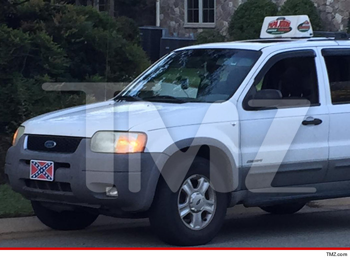 papa johns confederate flag driver forced to remove plates