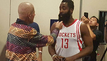James Harden & Craig Sager -- Emotional Reunion ... At Rockets Media Day