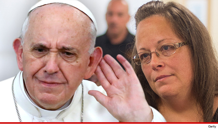 Image result for kim davis meeting pope francis