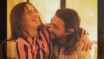 Emilia Clarke & Jason Momoa -- Khaleesi and Khal Drogo Reunited!!! (PHOTO)