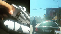 LAPD Gun Stalker Video -- Rap Group Claims Gun's a Phony
