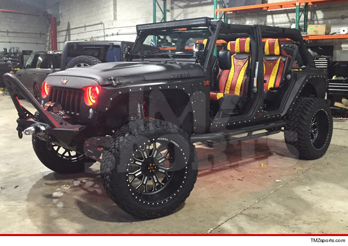 Floyd Mayweather 1st Pics Of Replacet Jeep ... Gator-Skinned ...