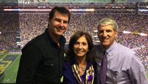 Tom Cruise Attends LSU Game ... Gives Urinal Interview