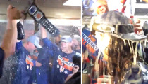 NY Mets -- BOOZY CELEBRATION ... Poppin' Bottles with WWE Belt