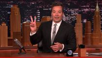 Jimmy Fallon -- Audience Gives Him a Hand ... Because He Needs One