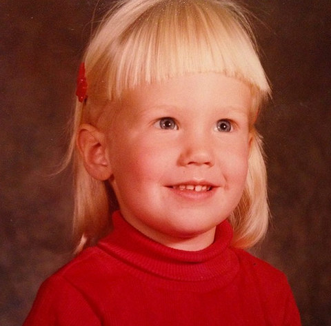 Before this little darling was going mad on-screen, she was just another blonde beauty rockin' some blunt bangs in Brookings, South Dakota.