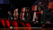 Gwen Stefani, Blake Shelton -- Adam Levine Busts their Chops on 'The Voice' (VIDEO)