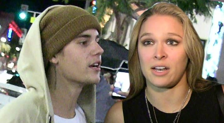 Justin Bieber Apologizes to Ronda Rousey ... Then Disses Her