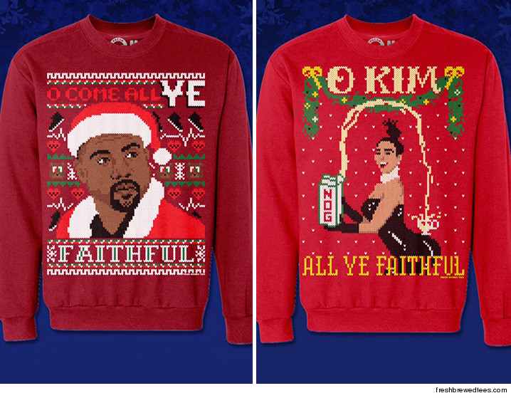 kim kardashian may be the west family matriarch but when it comes to ugly christmas sweater sales kanyes the man in charge
