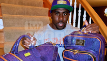 NFL's C.J. Spiller -- Packing For The CFB Playoff ... With $10k Bags