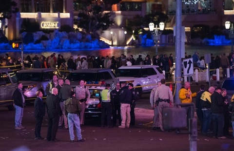 """<p class=""""p1""""><span class=""""s1"""">Chaos on the Vegas Strip ... as a car plowed into a crowd of people on the sidewalk in front of the Planet Hollywood hotel Sunday night ... mowing down more than 30 people.</span></p> <p class=""""p1""""><span class=""""s1"""">At least one person was killed in the incident, according to officials ... and more than 30 other people were injured.</span></p>"""