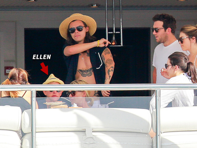 Ellen DeGeneres -- I'm The Captain Now ... Joins Harry and Kendall's Yacht Party