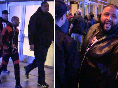 Floyd Mayweather & DJ Khaled -- Only One Can Be the Real Champ ... At Lakers Game (VIDEO)