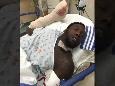 Jason Pierre-Paul -- Bloody Hospital Pic ... Day After Fireworks Accident
