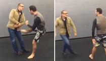 Chris Weidman -- OBLITERATES REEBOK EXEC ... With Brutal Kick (VIDEO)