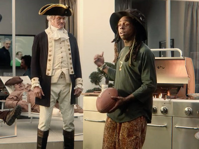 Lil Wayne Super Bowl Commercial -- Nothing Racist About Me Grilling for George Washington (VIDEO)
