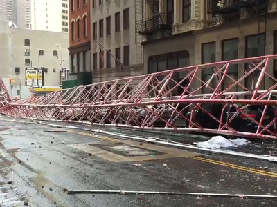Insane Accident -- Massive Crane Falls in NYC ... At Least 1 Dead