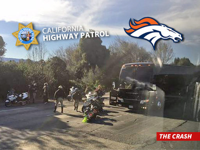 Broncos Bus Crash -- CHP Cop Back to Work ... No Tickets to Game
