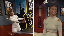 Nina Agdal -- Loses At Ping Pong ... Wins At HOTNESS (VIDEO)
