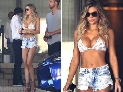 Samantha Hoopes -- Bikini & Daisy Dukes ... to Run Errands (PHOTOS)
