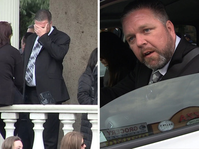 Big Ang -- Estranged Hubby Neil Murphy Breaks Down at Funeral (VIDEO)