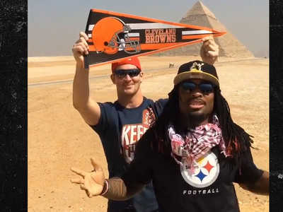 Steelers' DeAngelo Williams -- Videobombed By Browns Star ... In Egypt!! (VIDEO)