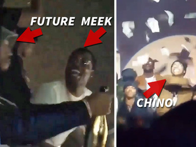 Meek Mill -- Strip Club Ballin' for Last Night of Freedom (VIDEO)