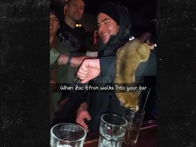 Zac Efron -- I Got a 'Monkey' on My Arm ... In a Bar (VIDEO)