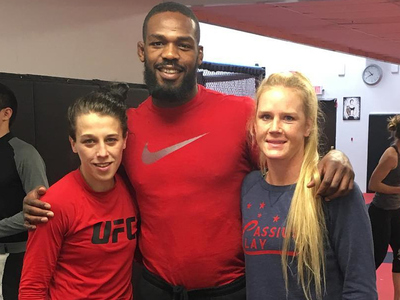 Holly  Holm -- Training For UFC Revenge ... With Jon Jones
