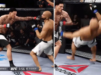 Matt Barnes -- Obliterates Derek Fisher ... In UFC Simulation (Video)