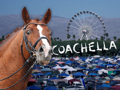 Coachella Party Village -- Leave Your Car ... Bring Your Own Horse